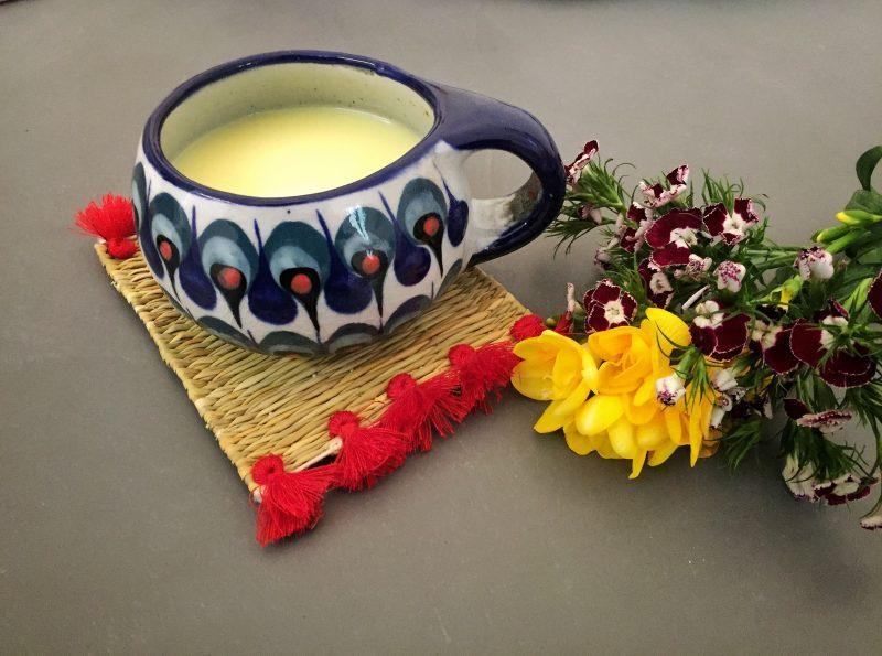 ricetta per preparare il golden milk, golden milk, the lazy trotter, latte d'oro, curcuma