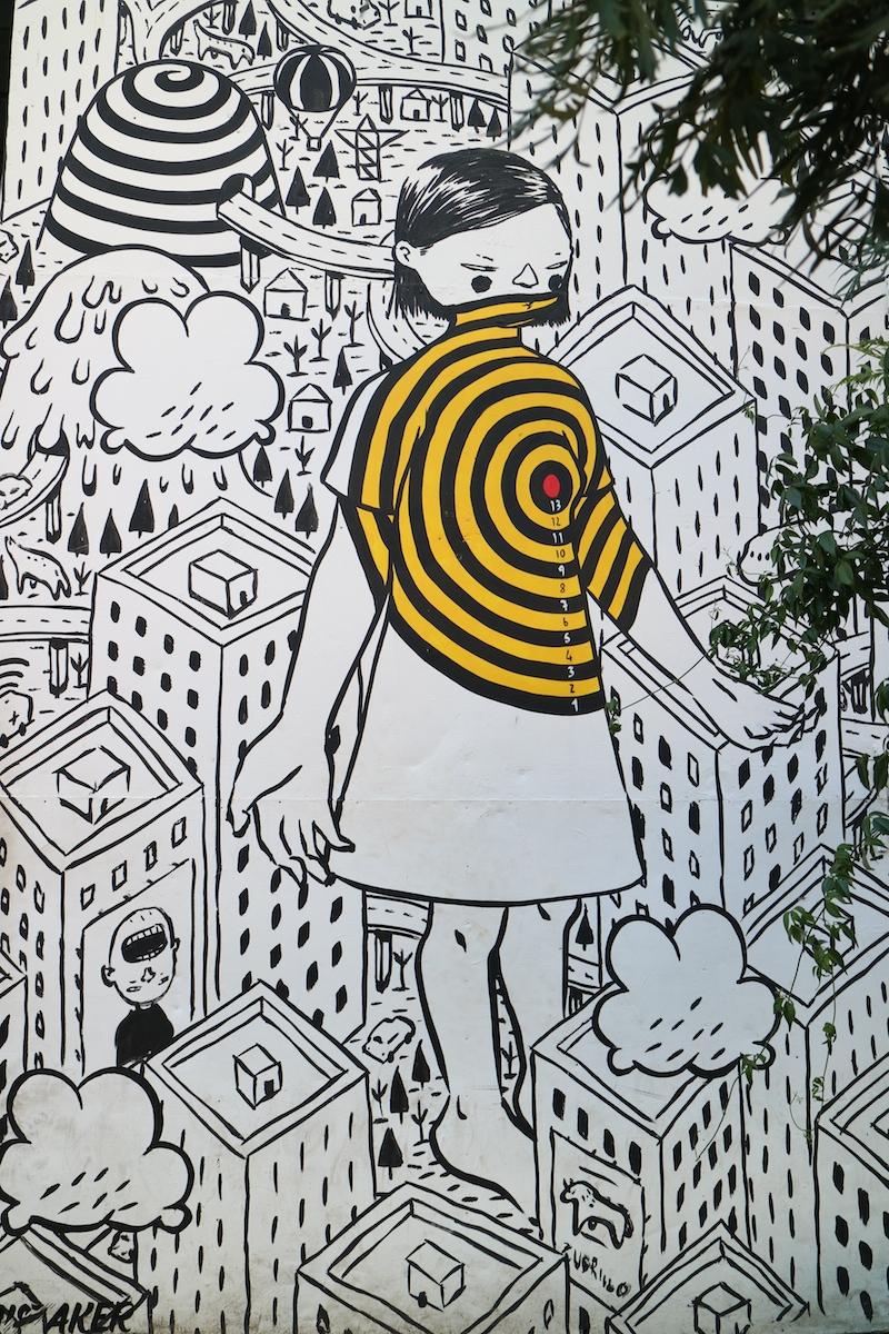 visitare lisbona, streetart, millo