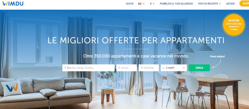 siti come airbnb, siti per affittare case vacanze, wimdu