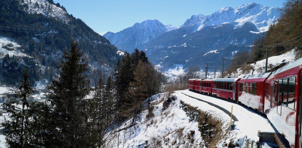 trenino del bernina, ferrovia retica, bernina express
