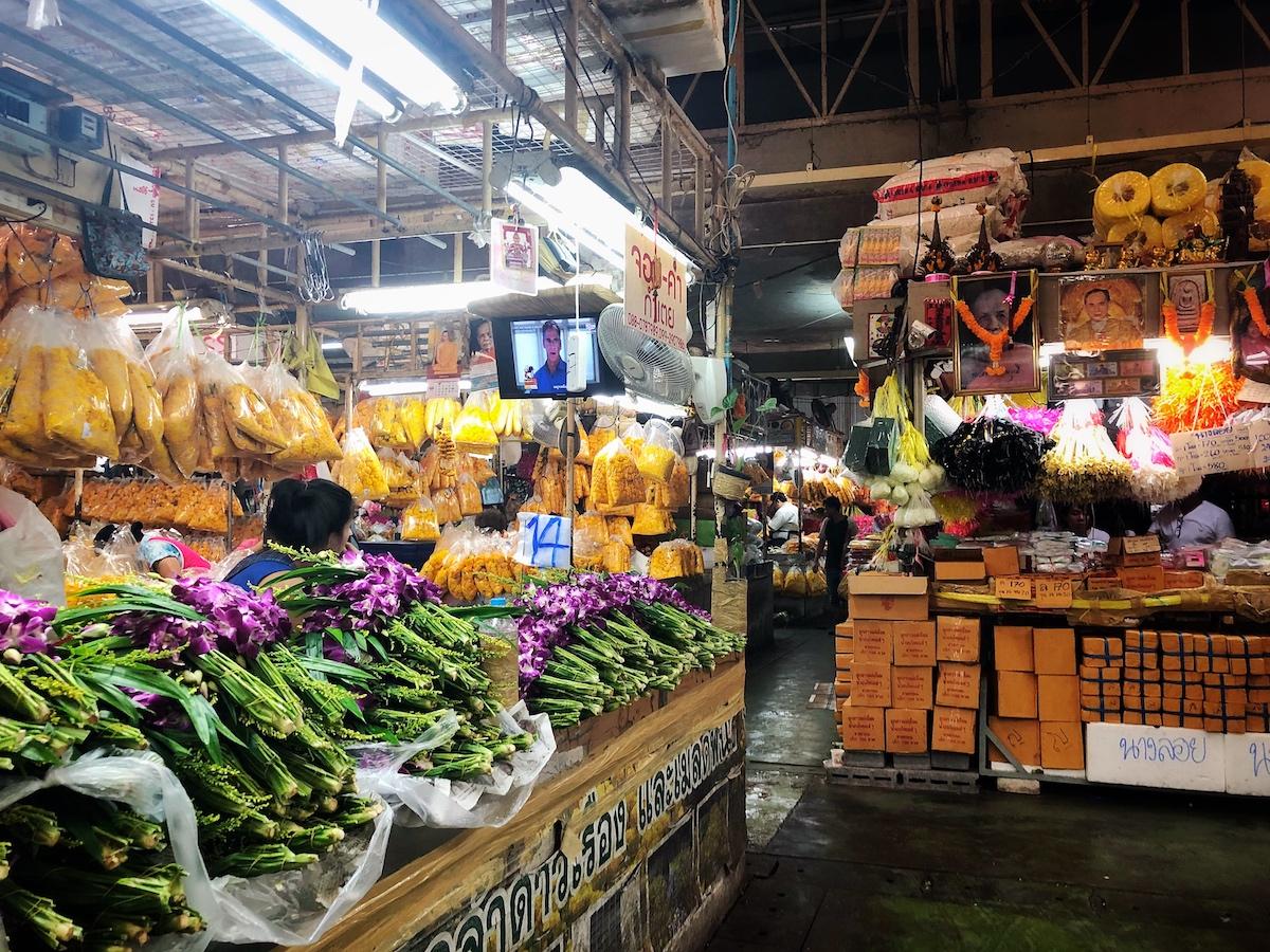cosa fare a bangkok, mercato dei fiori bangkok, mercati bangkok